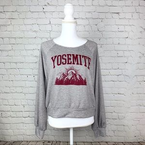 Yosemite Hiatus boat neck thin sweater pullover